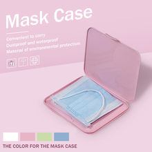 Masks Box Mask Storage Case Portable Squre Face Masks Container Safe Disposable Shield Mask Cartoon Student Organizer Mascarilla