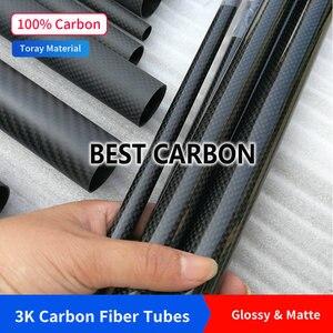 Image 5 - Бесплатная доставка, 13, 14, 15, 16, 17, 18, 19, 20 мм, Длина 500 мм, высокое качество, гладкое, глянцевое, 3K, трубка из углеродного волокна