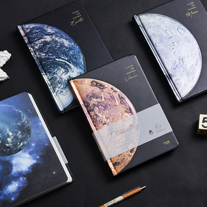 Hard Cover Lined Papers Starry Sky Notebook Journal Beautiful Universe Diary Notepad For School Student Stationery