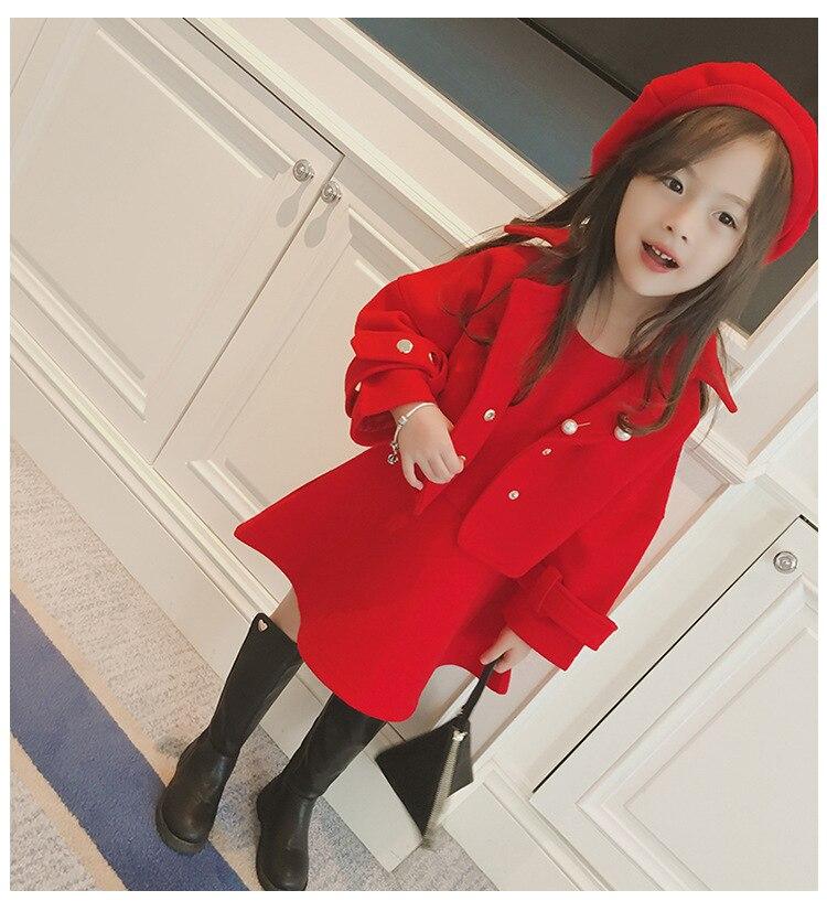 Children Girls Clothing Girls Winter Clothes 2019 Winter Baby Girls Warm Sleeveless Vest Dress +Woolen Jacket Coat 3PCS Sets (12)
