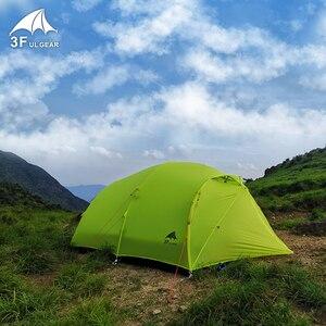 Image 4 - 3f ul engrenagem qingkong 4 pessoa 3 4 temporada 15d barraca de acampamento ao ar livre ultraleve caminhadas mochila caça à prova dwaterproof água qingkong4