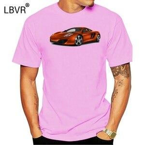 Men Short sleeve tshirt McLaren MP4 12c Volcano Orange Unisex T Shirt Women t-shirt(China)