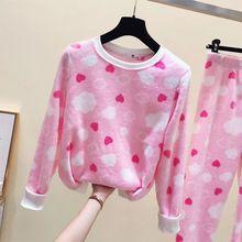 Autumn Flannel Women Pajamas Sets Warm Female Winter Thick Pajama Set Full Trousers Pyjamas Homewear