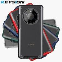 KEYSION Mate caso Huawei Mate 40 Pro + 5G 30 Pro transparente a prueba de golpes a prueba funda trasera del teléfono para Huawei P40 Pro Plus P30 Lite
