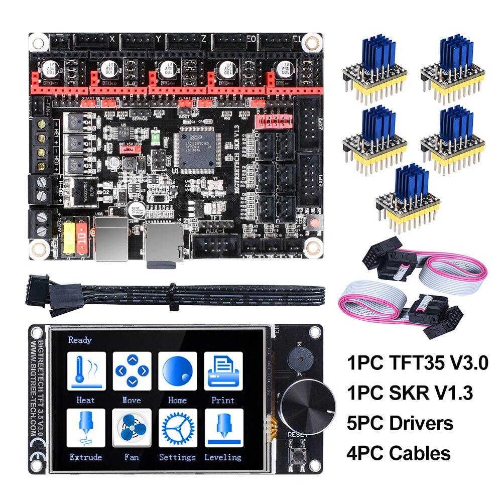 BIGTREETECH SKR V1.3 carte 32Bit + TFT35 V3.0 écran tactile + 5pc TMC2208 TMC2209 UART TMC2130 spi pièces d'imprimante 3D MKS SGEN L