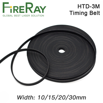 HTD 3M PU Open Timing Belt Width 5mm-40mm Transmission Synchronous 3M Belt For CO2 Laser Engraving Cutting Machine motor belt pu timing belt coated with apl two types