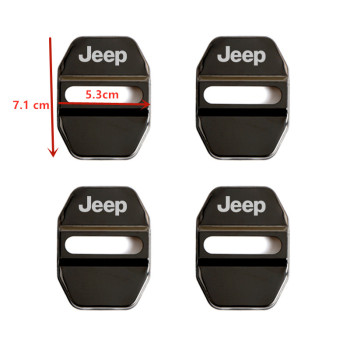 Car-Styling Car Door Lock Cover Auto Emblems For JEEP Grand Cherokee Commander Renegade Wrangler Compass Patriot Accessories