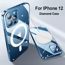 Магнитный чехол для iphone 12 pro max mini быстрой беспроводной