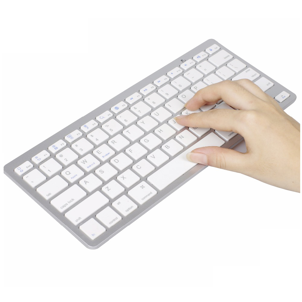 Ultra Slim Bluetooth Keyboard Mini Wireless Keyboard 78 Keys For Windows OS/Apple Mac/Android System