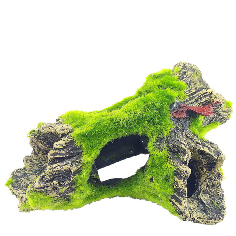 2 Style Aquarium Decorative Resin Fish Play Tree Cave Cave Decoration Mountain View Fish Tank Ornament
