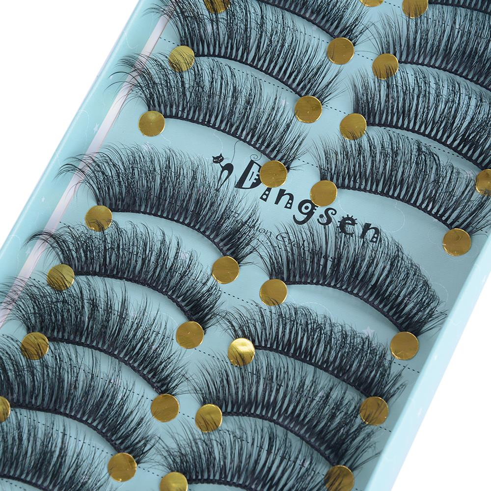 10 Pairs 3D False Eyelashes Natural Look Thick Mink Fake Eyelashes Long Lasting Extension Women Eyes Makeup Beauty Tools