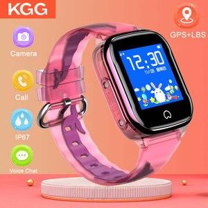 Image 1 - K21 Smart GPS Watch Kids 2019 New IP67 Waterproof SOS Phone Kids Smart Watch Children Clock Fit SIM Card IOS Android Wristwatch