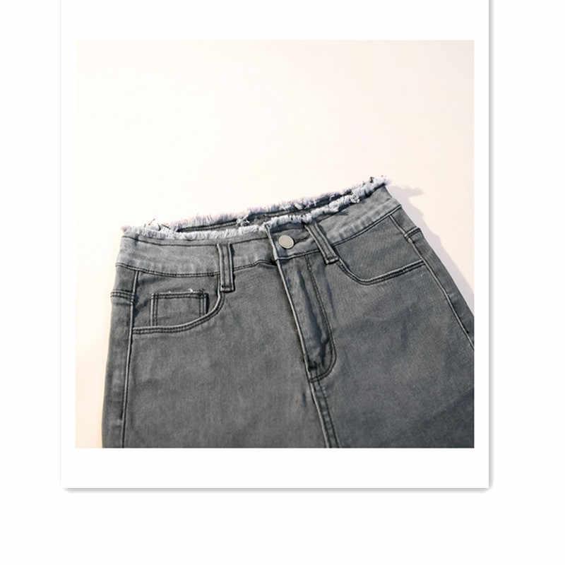 JUJULAND Jeans Mujer pantalones de mezclilla Color negro mujer Jeans Donna Stretch Bottoms Feminino pantalones ajustados para mujer Pantalones 9806