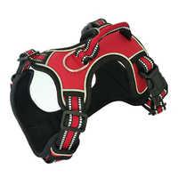Harnais pour chien sans traction gilet réfléchissant harnais avec poignée robuste haute visibilité sangles réglables contrôle facile doux rembourré