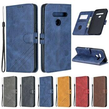 Перейти на Алиэкспресс и купить Для LG G8 Чехол кожаный флип чехол для Coque LG G8 ThinQ G8S V50 Stylo 5 K30 K10 2018 2017 K20 Plus Funda бумажник на магните чехол