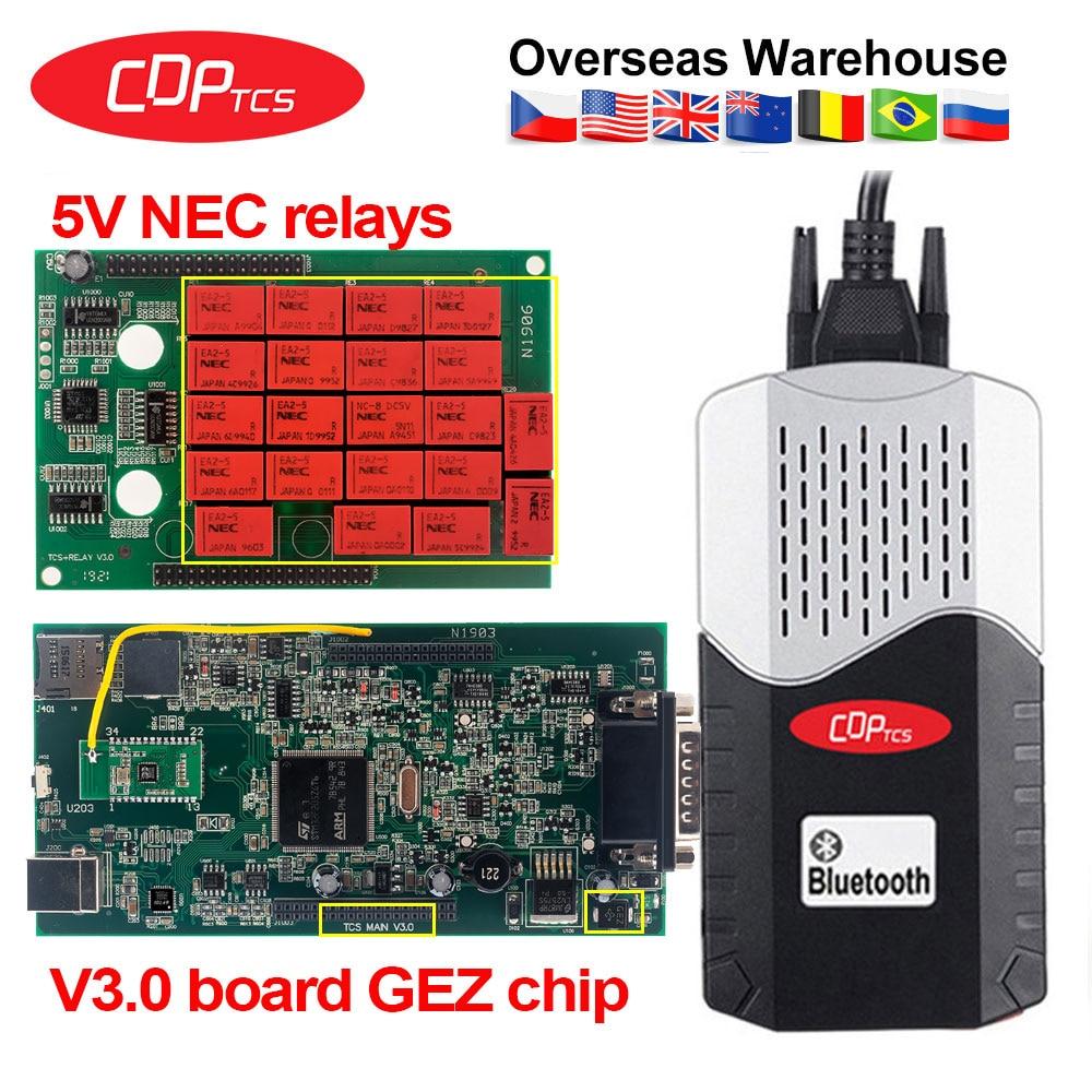 CDP TCS V3.0 NEC Реле OBD2 сканер 2016,00 генератор ключей cdp tcs Multidiag pro автомобильный для грузовиков OBDII диагностический инструмент