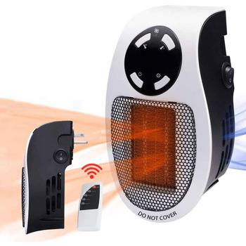 500W Electric Wall Heater Mini Portable Remote Control Plug-in Personal Space Warmer For Indoor Desktop Fireplace Heater Fan mini fan heater portable household fan heater 500w compact personal space heater remote control fan heater
