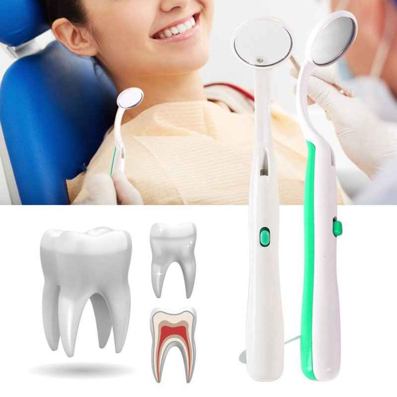 Women Beautys Bright Durable Dental Mouth Mirror With LED Light Reusable Oral Health Care Product