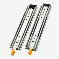 2Pcs/set Heavy duty slide rail with lock 76mm width 3 folds ball bearing 12 30 inchtelescopic Full Extension industrial drawer