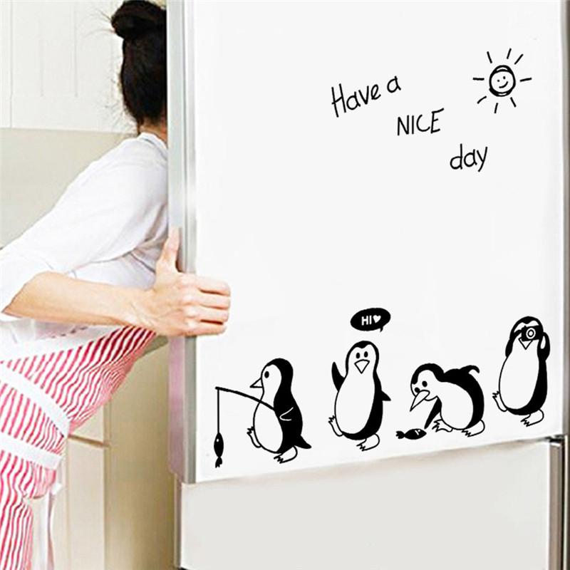 Wall Decal Have A Nice Day Cute Penguin Wall Stickers Kitchen Fridge Art Decals Ome Decoration Room Wall Art Dropshipping C Wall Stickers Aliexpress