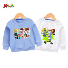 kids hoodie children sweatshirts the loud house toddler baby girl Cartoon long sleeves outfit white sweatshirt for girls clothes