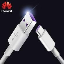 цена на Huawei 5A Cable P30 Mate20 X P20 Pro Lite Super Charge 5A USB Type C Cable 100% Original Honor V10 10 Mate10 Mate9 P20 Pro Lite