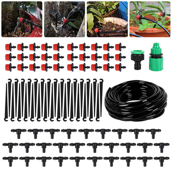 25M DIY Drip Irrigation System Automatic Watering Hose Micro Kits with Adjustable Drippers for Garden Landscape