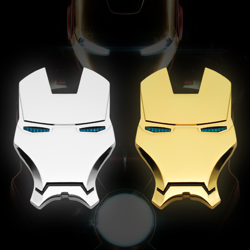 Car Styling Metal The Avengers Iron Man Emblem Car Motorcycle 3D Sticker Auto Skeleton Rear Badge Stickers Decals Accessories