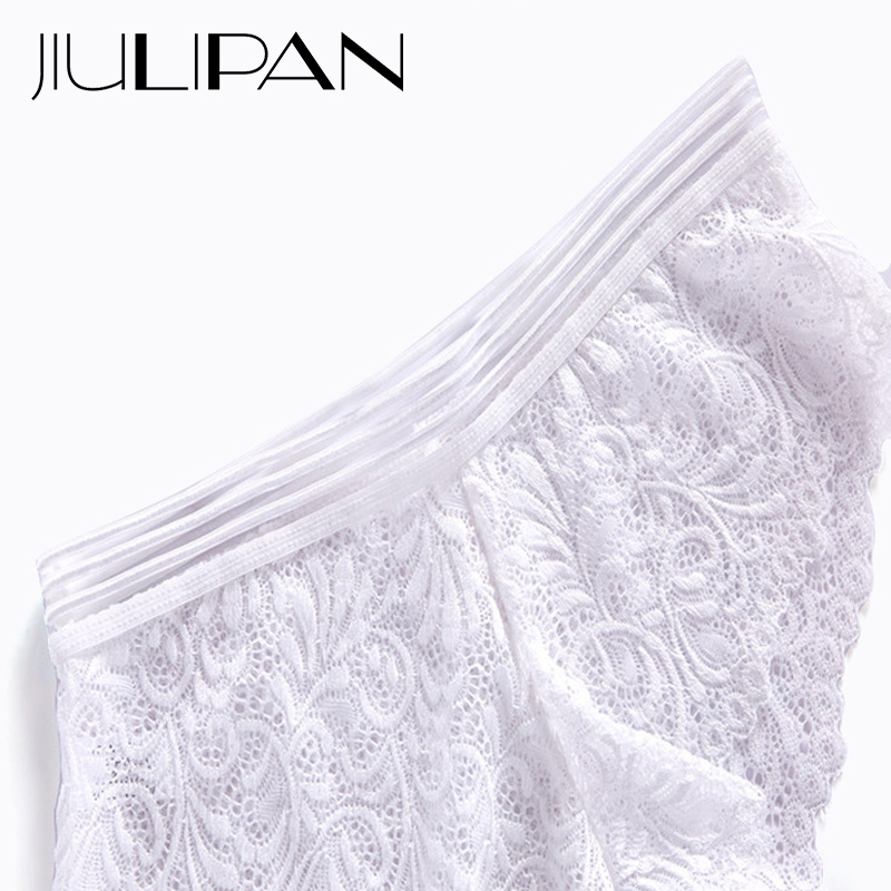 JIULIPAN Lace sexy underwear female mesh openwork transparent ultra thin seamless cotton breathable low waist briefs in women 39 s panties from Underwear amp Sleepwears