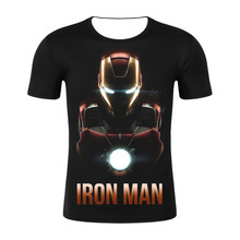 Avengers 4 Iron Man MK85 3D Printed T shirts Men Compression Shirts Raglan Sleeve 2019 Short Cosplay Costume Tops Male