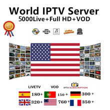 IPTV M3U Subscription US Italia Portugal French Spanish Turkish Account Code M3u Enigma Smart World TV for Mag Android box