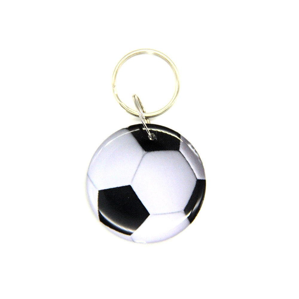 1pcs EM4305 EM4205 125KHZ Football Pattern Dropping Glue Waterproof RFID Keyfob Duplicate Clone Badge Access Control Card