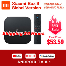 Original Global Xiaomi Mi Box S 4K Ultra HDR Android TV 8.1 Mi Boxs 2G 8G WIFI Google Cast Netflix Set Top Mi Box 4 Media Player