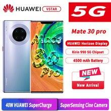 6.53 אינץ המקורי HUAWEI Mate 30 פרו 5G גרסה MobilePhone קירין 990 5G אנדרואיד 10 המחווה חיישן ב מסך