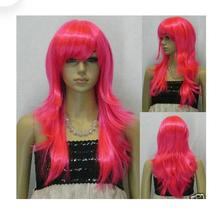 ++01512@Q8++Type524 Cosplay Long Straight Rose red Wig