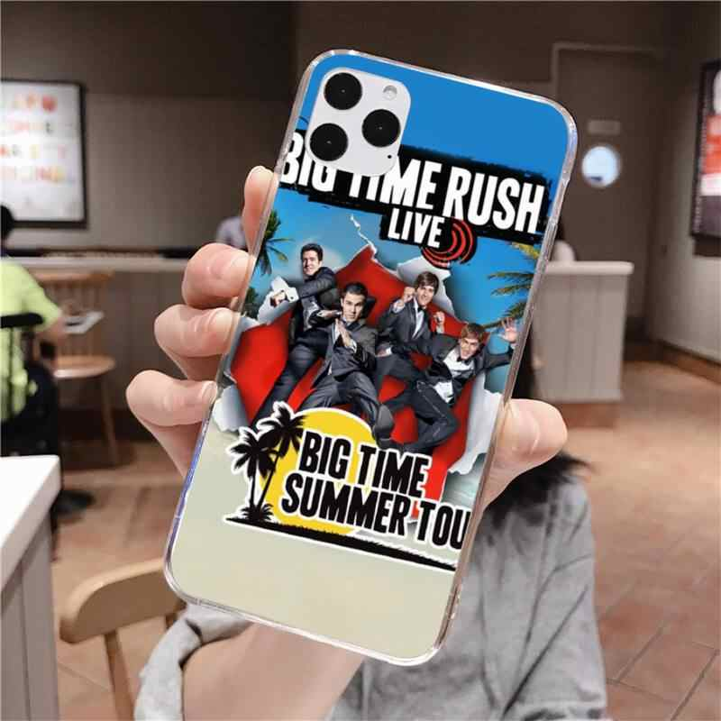 Btr Big Time Rush черный мягкий чехол из ТПУ для iPhone 11 pro XS MAX 8 7 6 6S Plus X 5S SE 2020 XR