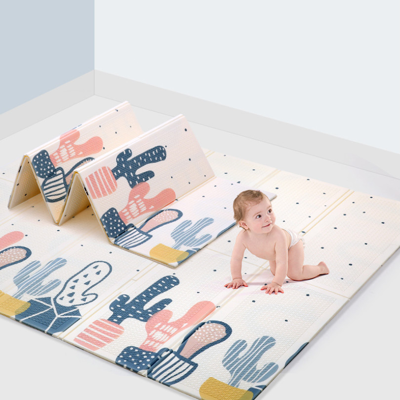 Double-sided Foldable Anti Slip Baby Play Mat Pad Toddler Xpe Puzzle Children Climbing Pad Practical Nursery  Room Decor .
