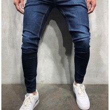 Мужские тонкие прямые джинсы брюки повседневные Хип-хоп мужские потертые джинсы мужские s обтягивающие рваные джинсы серые джинсы черные Большие размеры 3xl