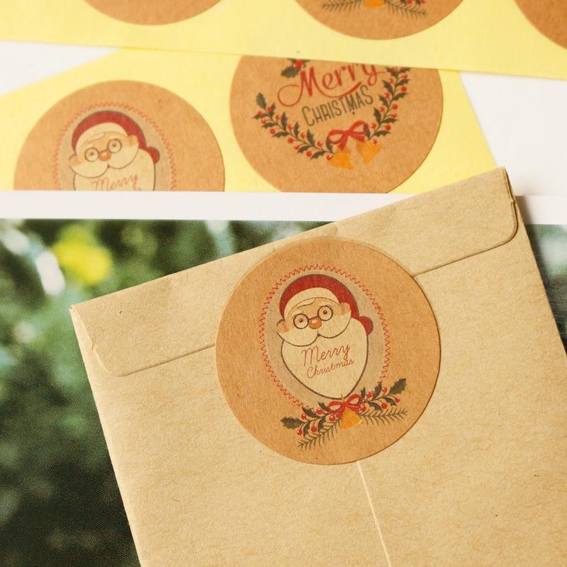 Sticker Paper-Label Scrapbooking Kraft-Paper Merry-Christmas Santa-Claus 108pcs Jingle-Bell