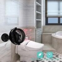 Batterie Betrieben Küche Fan mit Saugnapf  Kapazität Wiederaufladbare Wand Fan  Persönliche USB Fan mit Starken Luftstrom  4 geschwindigkeiten  3