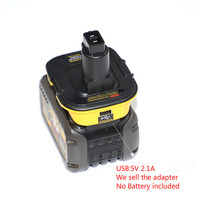 10 Pieces Wholesale Battery Adapter for Dewalt 20V li ion battery to 18V NI MH NI CD battery