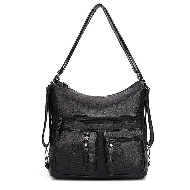 2020 Fashion Soft Leather Women Handbag Famous Brand Black Crossbody Bags For Women Big Size Lady Shoulder Bag Bolso Mujer