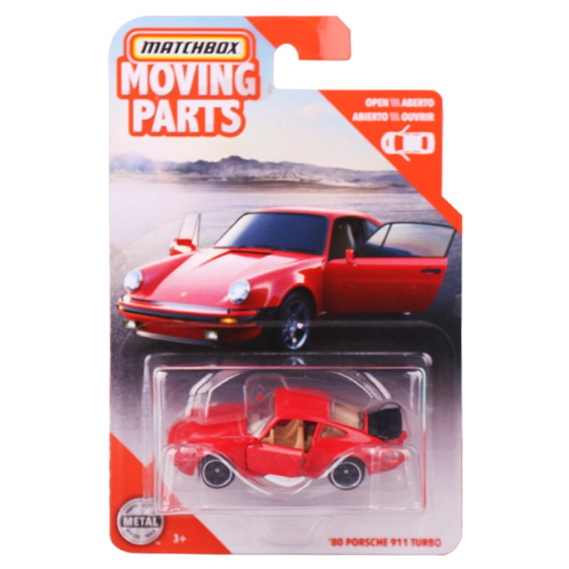 2020 Matchbox 1:64 Car 80 PORSCHE 911 TURBO Moving Parts Collective Edition Metal Diecast Car Alloy Model Car Kids Toys Gift