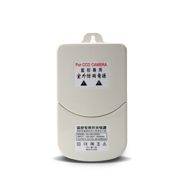 Waterproof Outdoor CCTV Power Supply DC 12V 2A Power Adapter Power Switch US EU UK For Cctv Camera