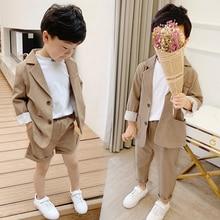 Girls Boys Suits for Weddings Kids Blazer School Su