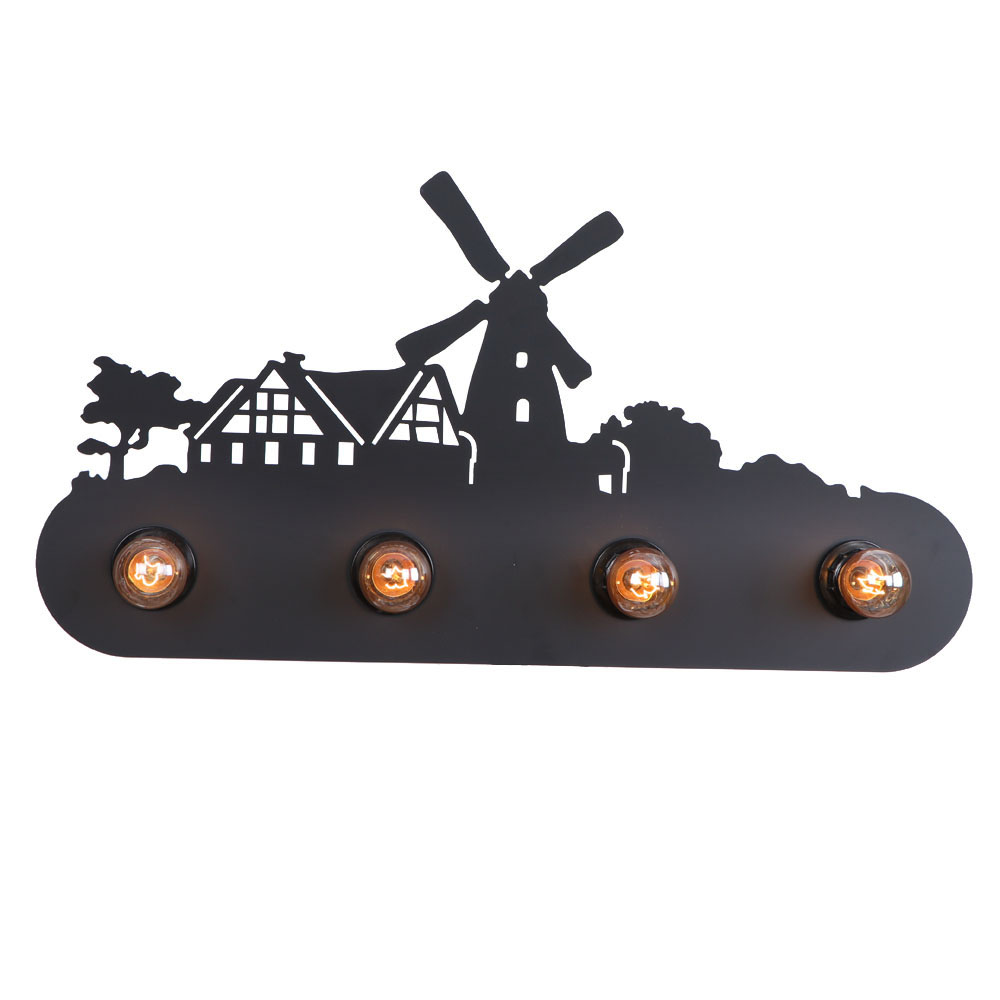 cartoon wall lamp farm windmill wall lamp loft style wall lamp bar lighting hotel lighting E27 lighting for living room