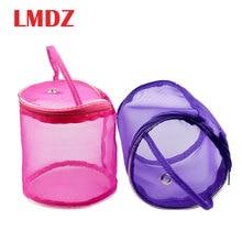 LMDZ 1 шт., 2 размера, сумка-Органайзер для хранения, с застежкой-молнией, Сетчатая Сумка для шитья, инструменты для шитья, чехол для хранения пряжи крючком