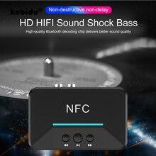 Kebidu BT200 NFC Bluetooth מקלט 3.5mm AUX RCA שקע A2DP Hifi אלחוטי Bluetooth 5.0 אודיו מוסיקה מתאם אוטומטי עבור רכב רמקול
