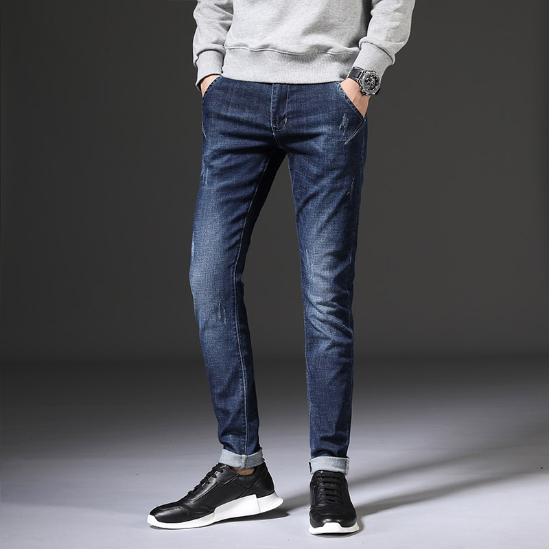 2019 Autumn Jeans Men's New Style Slim Fit MEN'S Jeans Elasticity Skinny Jeans MEN'S Pants Men's