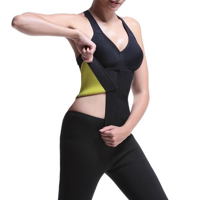 Yoga Workout Shapewear Vest Tank High Elasticity Sweat Slimming Belly Belt Vest Workout Body Shaper Tank Top 5